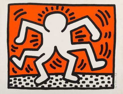 Keith Haring, 'Double Man, from Portfolio of 5 Artists in Support of Bill T. Jones/Arnie Zane & Company', 1986