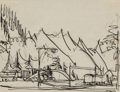 Ernst Ludwig Kirchner, 'Train Station, Davos-Platz', ca. 1925