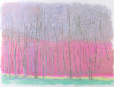 Wolf Kahn, 'SHOCKING PINK AND GREEN', 2002