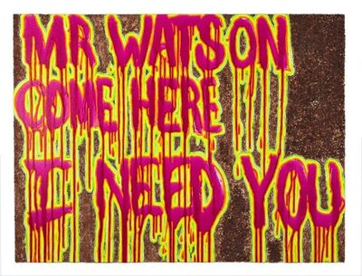 Katie Herzog, 'Mr. Watson Come Here I Need You ', 2011