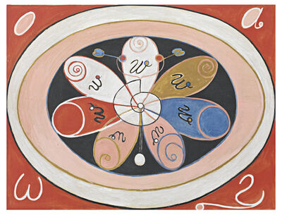 Hilma af Klint, 'Group VI, no 15. Evolution Series WUS, Seven Pointed Star', 2018