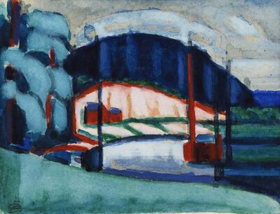 Oscar Bluemner, 'So. River, N.J.', 1916