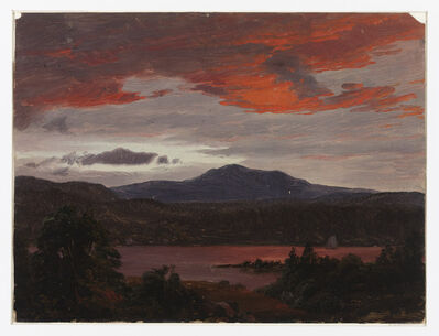Frederic Edwin Church, 'Turner Pond with Pomola Peak and Baxter Peak, Maine', ca. 1853
