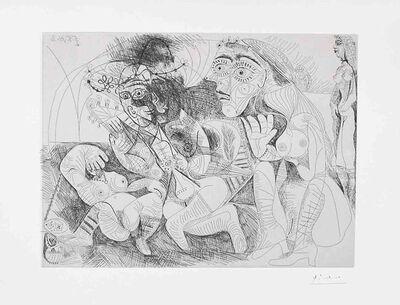Pablo Picasso, 'Filles Entre Elles- La Recreation en Masque, from the Series 156', 1971