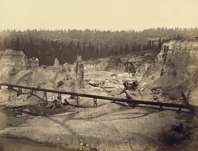 Carleton E. Watkins, 'Malakoff Diggings, North Bloomfield, Nevada County, California', 1871
