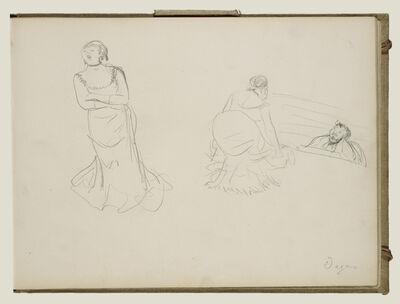 Edgar Degas, 'Two Sketches', 1877