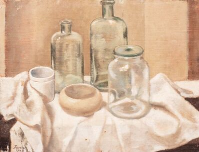 Guglielmo Janni, 'Still life with bottles', 1922