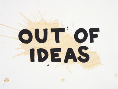 Steve Lambert, 'Out of Ideas', 2010