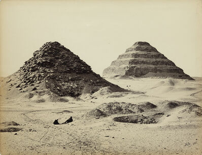 Francis Frith, 'The Pyramids of Sakkarah, from the North East', 1858