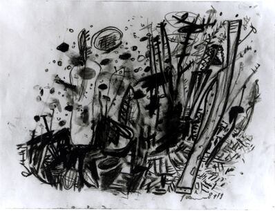 Gunter Damisch, 'Spreu und Strich', 1987