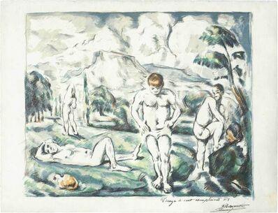 Paul Cézanne, 'Les Baigneurs (Grand Planche) (Druick I; Venturi 1157)'