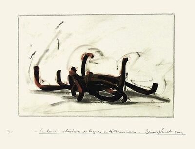 Bernar Venet, 'Combination of Random Indeterminate Lines', 2004
