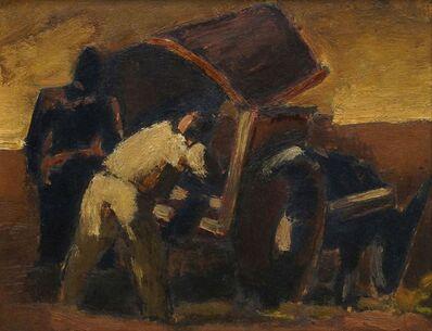 Josef Herman RA, 'Leading the cart'