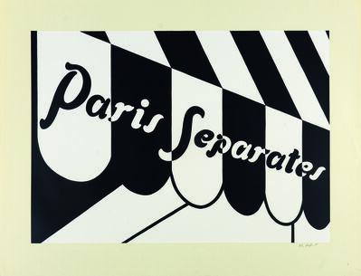 Patrick Caulfield, 'Paris Separates', 1973