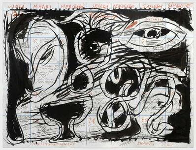 Pierre Alechinsky, 'Pense bête de septembre', 2000