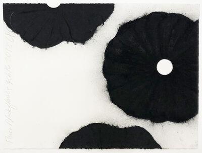 Donald Sultan, 'Three Black Flowers Feb 16 2018', 2018