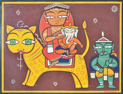 Jamini Roy, 'Shiva, Durga and Ganesh'