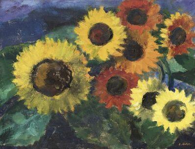 Emil Nolde, 'Leuchtende Sonnenblumen (Glowing Sunflowers)', 1950