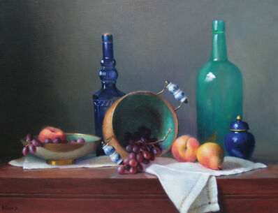 Alberta Geyer, 'Grapes, Two Peaches, and a Pear', 2018