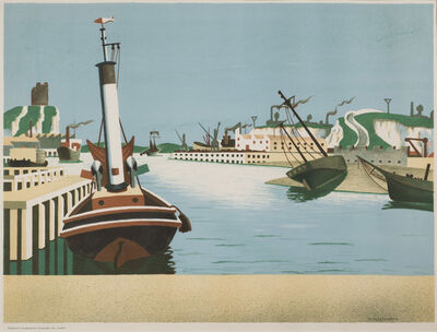Edward Wadsworth, 'Imaginary Harbour', 1938