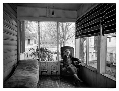 Ansel Adams, 'Mrs. Gunn on Porch, Independence, California', 1944