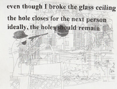 Monica Bonvicini, 'Hole (William Burroughs shooting Brooklyn Bridge)', 2003