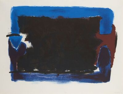 Trevor Bell, 'Clamp Image with Black', 1982