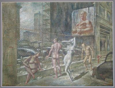 Edward Laning, 'The Parking Lot', 1954