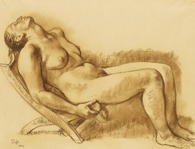 Francisco Zúñiga, 'Mujer reposando en una silla.', 1975