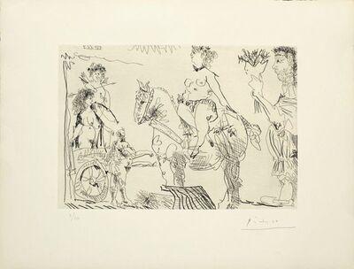 Pablo Picasso, 'Scène de Théâtre : Amazone, Vénus de foire, homme au bouquet', 1968