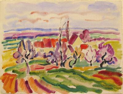 Louis Neillot, 'Maisons dans l'Allier', 1900s