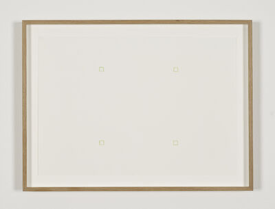 Robert Barry, 'Untitled (4 outlined green squares)', 1967