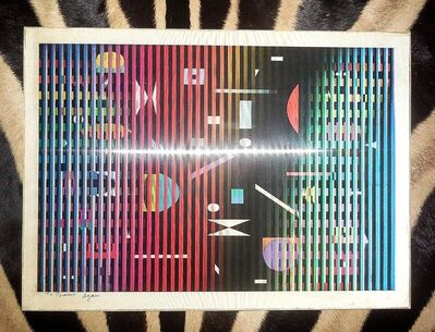 Yaacov Agam, 'Lenticular Agamograph Serigraph Kinetic Print Signed', 1970-1979