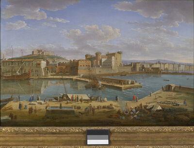 Hendrik Frans van Lint, 'Naples, Darsena', 1734
