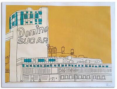 "Marz Junior, '""NYC  Domino Sugar  Factory"" - yellow horizontal framed', 2015"