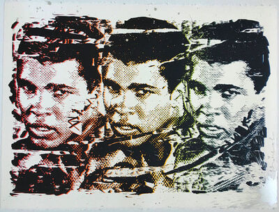 Mr. Brainwash, 'LEGEND FOREVER (GRADIENT) MUHAMMAD ALI', 2016