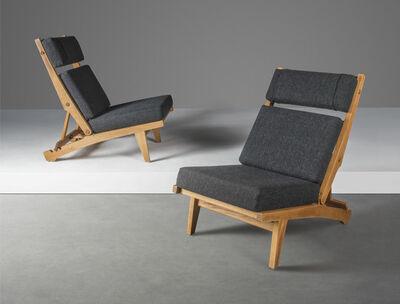 Hans Jørgensen Wegner, 'A pair of rare adjustable lounge chairs, model no. AP 71', designed 1968