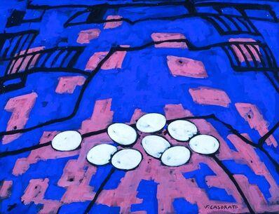 Felice Casorati, 'Eggs on the landscape', 1959