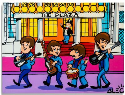 Alec Monopoly, 'Beatles in Front of the Plaza', 2020