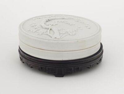 """'Ink Stone with Lid and Stand From """"Treasures of A Scholar's Studio""""', 19th century"""