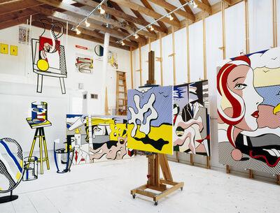 Horst P. Horst, 'Roy Lichtenstein (Lichtenstein Studio Southampton), New York', 1977