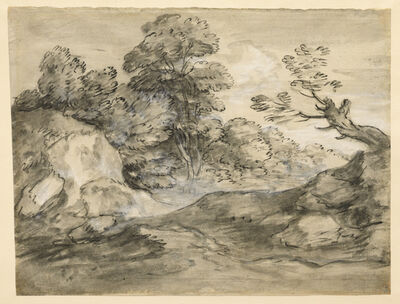 Thomas Gainsborough, 'Rocky Wooded Landscape with Winding Track', Late 1770s