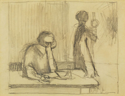 Keith Vaughan, 'Figures seated at a table', 1912-1977