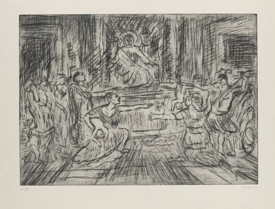 Leon Kossoff, 'From Poussin 'Judgement of Solomon'', 2000