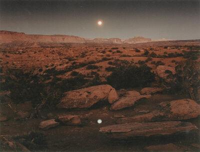 John Pfahl, 'Moonrise Over Pie Pan, Capitol Reef National Park, Utah', 1977