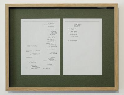 Kapwani Kiwanga, 'Greenbook, South Carolina (1940)', 2018