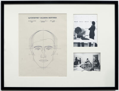 Dalibor Martinis, 'Selfportrait of D.M. by...', 1977