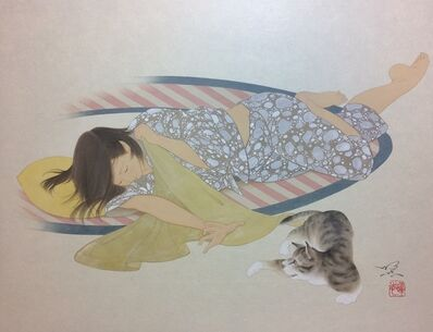 Yoji Kumagai, 'Two cats', 2017