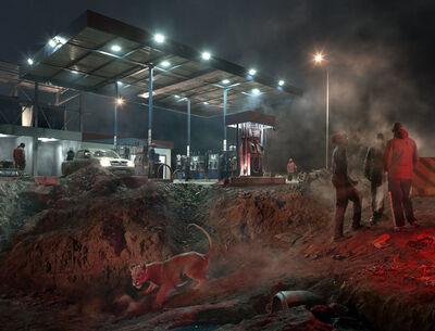 Nick Brandt, 'Petrol Station with Lioness', 2018
