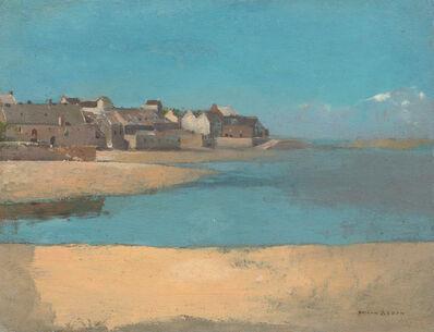 Odilon Redon, 'Village by the Sea in Brittany', 1880
